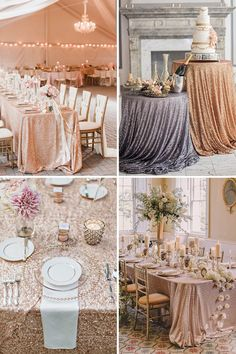 where to find sequin table cloths for your wedding | www.onefabday.com