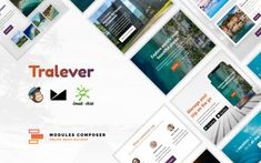 Tralever - Responsive Email Template for Booking and Traveling Email Templates, Newsletter Templates, Site Design, Web Design, World Most Beautiful Place, Online Email, Campaign Monitor, Responsive Email