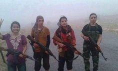#SYRIA and IRAQ NEWS: Sinjar Update - 19.12.14 - IS Jihadists Driven from Mount #Sinjar In dramatic events over 48 hours Kurdish Peshmerga forces, backed my numerous Coalition airstrikes, have broken the siege of the #Yezidi people on Mount Sinjar in northern #Iraq. *For More Iraq and Syria News ...* http://www.petercliffordonline.com/syria-iraq-news-4 PIC: Female Yezidi Fighters on Mount Sinjar.