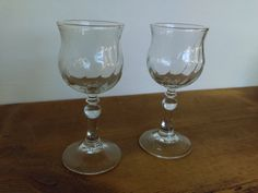 Vintage Cordial Glass Set of 2 with Swirled Design by jessamyjay on Etsy