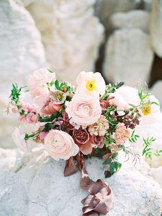 Peach and Mauve Bridal Bouquet