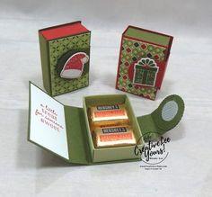 Stampin Up Christmas, Christmas Paper, Christmas Crafts, Christmas Boxes, Candy Crafts, 3d Paper Crafts, Diy Paper Box, Paper Boxes, Diy Box