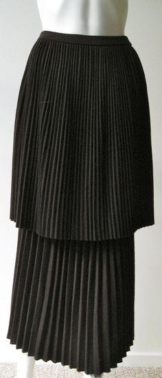 Incredible vintage 1980s Skirt Yohji Yamamoto Brown with pleats
