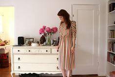 Love that dress. Camille Cregan closet visit http://closetvisit.com/