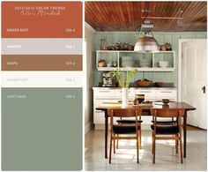 Ginger root is my favorite out of this palette. interior paint palette spice warm - Google Search