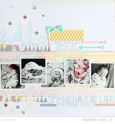 """Pinning cuz I like the photo layout but everything else gets too busy.""""hello ** Atlantic collection!** by Kelly Noel at Studio Calico"""""""
