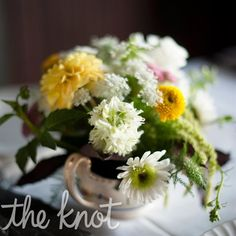 Small White and Yellow Centerpiece