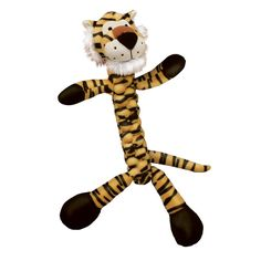 Kong - Braidz Tiger - Large - 035585801124. • Designed For Dogs Who Love To Tug, Shake and Squeak Their Toys • Soft But Strong Material Is Tightly Braided For Strength, Creating The Cutest Tug Toy On The Market. • Stretchy Weave Also Helps Floss and Clean Teeth During Play and A Squeaker Adds To The Fun