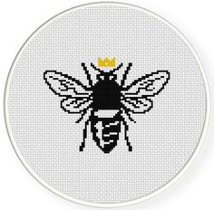 FREE Queen Bee Cross Stitch Pattern