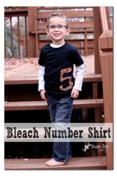 There's just something fun about a birthday shirt – gotta have one.  I have turned to the Bleach Number Shirt Method more than one – it's so easy, with great results. If you're really savvy with the Sugar Bee Crafts info, you'll know that all of my kiddos have birthdays in the fall (4 birthdays...Read More »