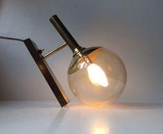 Vtg Brass Glass Globe Sphere Sconce danish mid century Hans Agne Jakobsson era #MidCenturyModern #JK: http://www.ebay.com/itm/-/263224899757