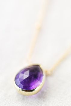 Alohanani necklace purple amethyst gold