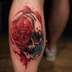 """""""Mais uma vez pela igualdade."""" Skull tattoo   Felipe Rodríguez  @rodferod"""