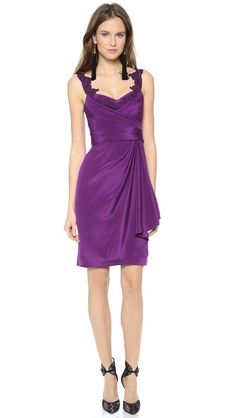 Notte by marchesa silk crepe dress this notte by marchesa dress is
