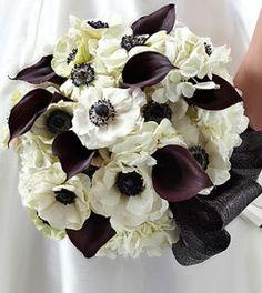 New City Florist > Anemone, Calla, and Hydrangea Bouquet Order Flowers, Bunch Of Flowers, Wedding Flower Arrangements, Flower Bouquet Wedding, Bridal Bouquets, Calla Lillies, Calla Lily, White Anemone, Fort Worth Wedding
