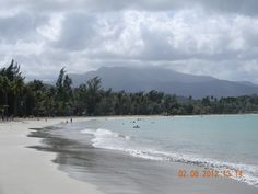 Puerto Rico: Luquillo Beach, El Yunque Rain forest in the background