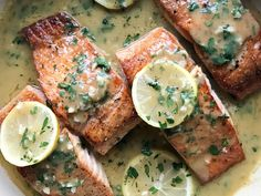 Glazed Lemon Salmon