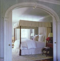 Pocket door off master bedroom example - could also be rectangular shaped instead of arched