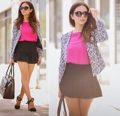 Daniela Ramirez - Nany's Klozet Para Melao Black Skirt, Nany's Klozet X Melao Fuchsia Top, Nany's Klozet X Melao Print Blazer - Dream it....do it!