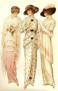 images vintage - Page 2 Edwardian Era, Edwardian Fashion, Vintage Fashion, 1914 Fashion, Victorian Ladies, Fashion Art, 80s Fashion, French Fashion, Victorian Era