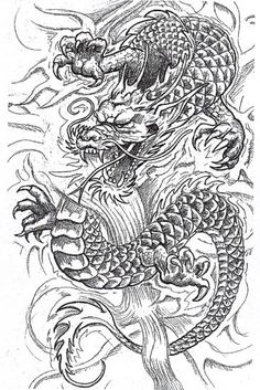 Dessin tatouage dragon