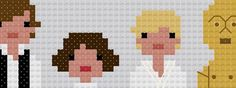 pop culture cross stitch. Not a tutorial, but I really want to figure out how to copy this. :)