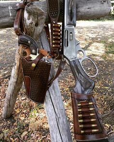 Weapons Guns, Guns And Ammo, Buffalo Brand, Leather Rifle Sling, Gun Holster, Holsters, Lever Action Rifles, Hunting Guns, Cool Guns