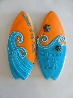 Surf board cookies