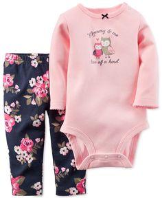 Calvin Klein 3-Pc. Printed Cotton Bodysuits   Pants Set b7b31ed77