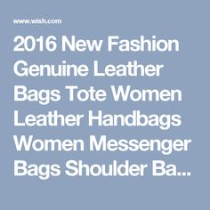 2016 New Fashion Genuine Leather Bags Tote Women Leather Handbags Women Messenger Bags Shoulder Bags Hot Vintage Bags Popular AD