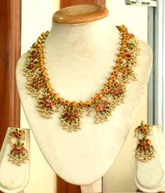 Indian Gold Jewellery Designs Necklace -- Want to know more, click on the image.