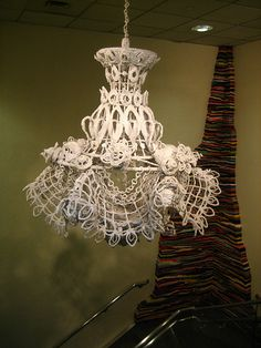 Very French, delicate lace lamp shade~❥