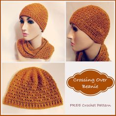 This hat pattern is crocheted up in a fine yarn, which makes it nice and stretchy. Available in one size only, but can be adjusted to any size.
