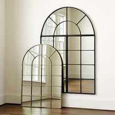 Design the mirror that's right for you with our Grand Palais Arch Mirror. Hang the arch above a sofa, console or mantel to add light and softening curves. Arch Mirror, Mirror Panels, Window Mirror, Interior Design Living Room, Interior Decorating, Room Decor, Wall Decor, Ballard Designs, Decoration