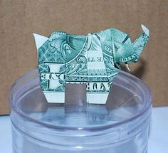 A personal favorite from my Etsy shop https://www.etsy.com/listing/519154151/money-origami-origami-elephant-money