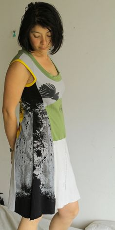 upcycled tee dresses