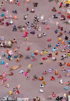 Aerial Images Of the Hindu Color Festival by Katrin Korfmann
