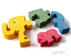 Puzzle - Holz-Puzzle Elefanten - ein Designerstück von Greenwoodlt bei DaWanda