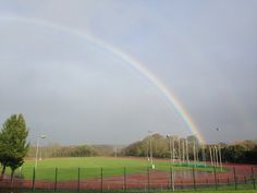 Rainbow over our on-campus Dangan Sportstrack. Photo by John Boyle.