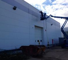 We also provide cladding cleaning using rope access, which is particularly useful when working on buildings that are either too tall or possibly landlocked with awkward access.