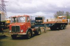 COL PHOTO BRITISH ROAD SERVICES AEC ARTIC SKELE TRAILER - XVG 909 (NC65) #Notapplicable