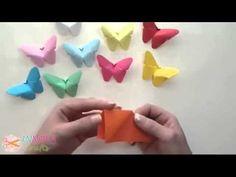 Einfach Schmetterling basteln - YouTube