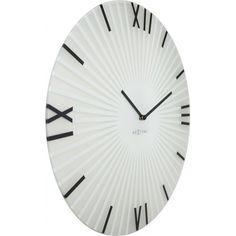 """The sticks clock is a strong and convincing design because its appearance is not random but the result of a simple and clear concept. It uses the old roman letters and together with the sun shape it reminds as well of the sundial clock, the very first clock there was, the mother of all clocks. Instead of looking heavy and antique, it has a light, pure and very modern vibe to it. """"Sticks"""" gives clock history a very simple and modern translation. Sticks - 8175WI"""