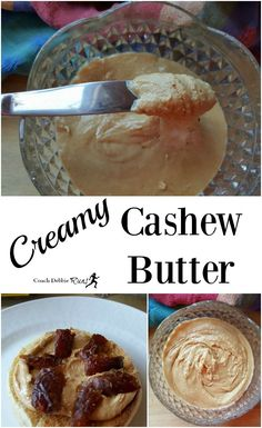 You have to try this creamy cashew butter! It's easy to make, delicious, and only takes about 15 minutes!