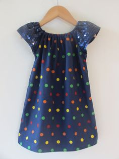 Children clothing - spotty sequin girl baby toddler dress Sizes 1 2 3 4 5 - by girlsandboys on madeit Kids Outfits Girls, Toddler Girl Outfits, Girly Outfits, Toddler Dress, Baby Dress, Baby Girl Fashion, Toddler Fashion, Little Girl Dresses, Girls Dresses