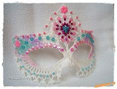 Máscara de Carnaval em crochê