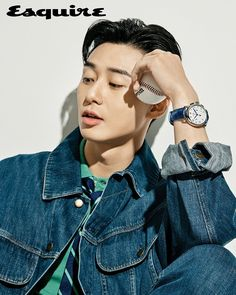 Park Seo-joon in Esquire Korea modeling Montblanc automatic watches Park Hae Jin, Park Hyung, Park Seo Joon, Korean Men, Asian Men, Asian Guys, Korean Wave, Asian Actors, Korean Actors