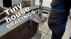 Tiny house on wheels part 9 - Fabricating and welding bracings for house...