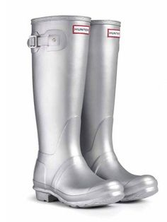 Why yes, my boots ARE made of silver! Original Metallic Rain Boots | Hunter Boot Ltd