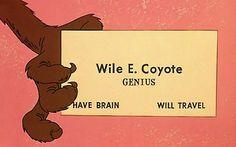 Wile E. Coyote   Genius   Have Brain    Will Travel